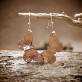 Shiny Butterfly Earrings.